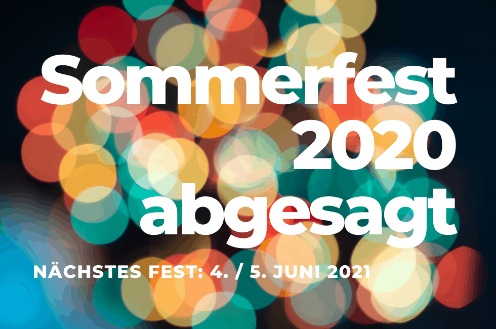 Absage Sommerfest 2020