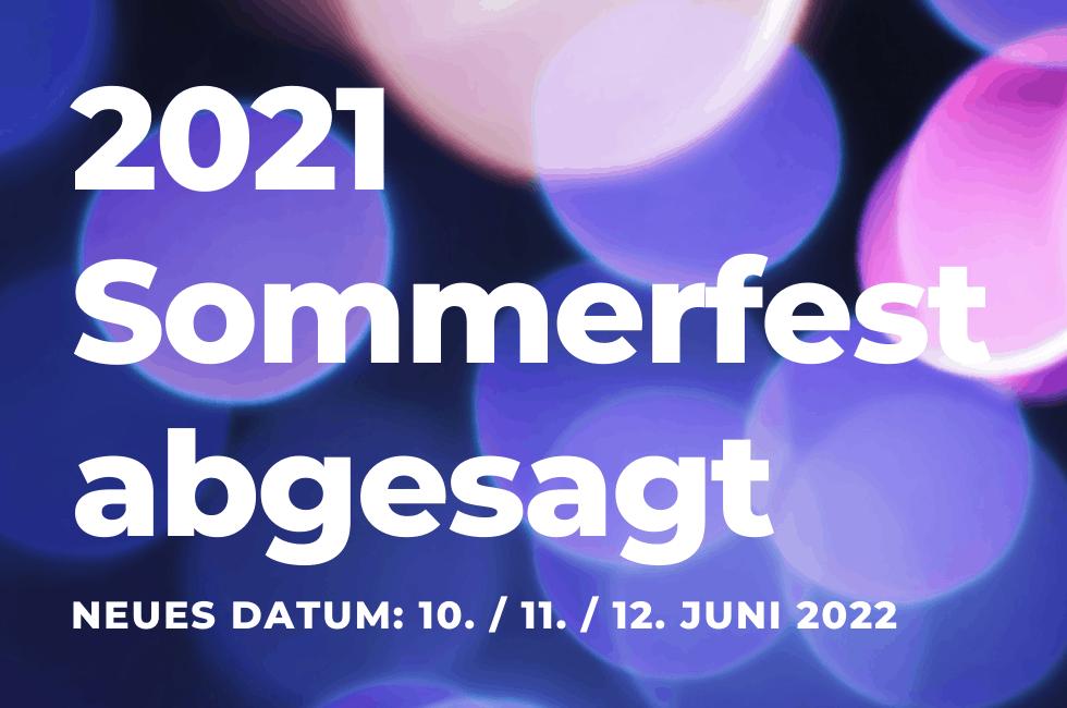 Sommerfest 2021 abgesagt